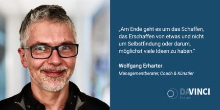 Produktivität schlägt Kreativität - Interview mit Wolfgang Erharter